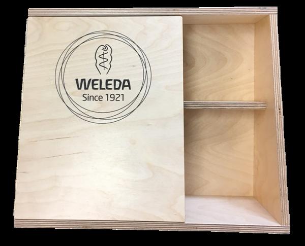 Weleda houten display